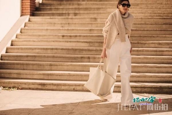 毛衣和阔腿裤怎么穿好看 让街头潮人来告诉你