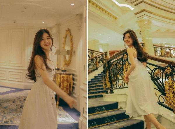 初恋少女赵露思就爱穿连衣裙,美丽温柔方便,年轻长得美就是资本