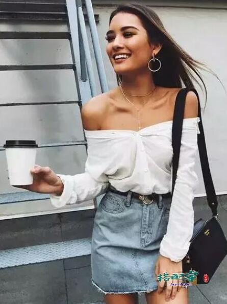 女式衬衫穿搭图片