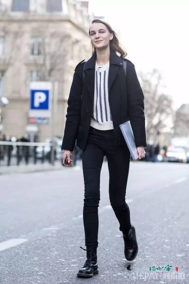欧美街拍 人人都该拥有一双耐磨耐操、越旧越有feel的马丁靴