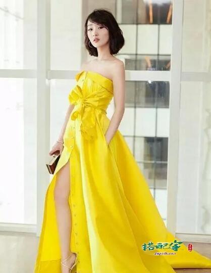 淡黄的长裙蓬松的头发什么梗?穿长裙最好看的女明星