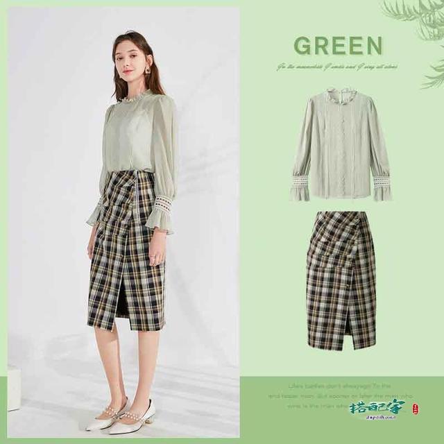 绿色怎么穿搭颜色好看的图片