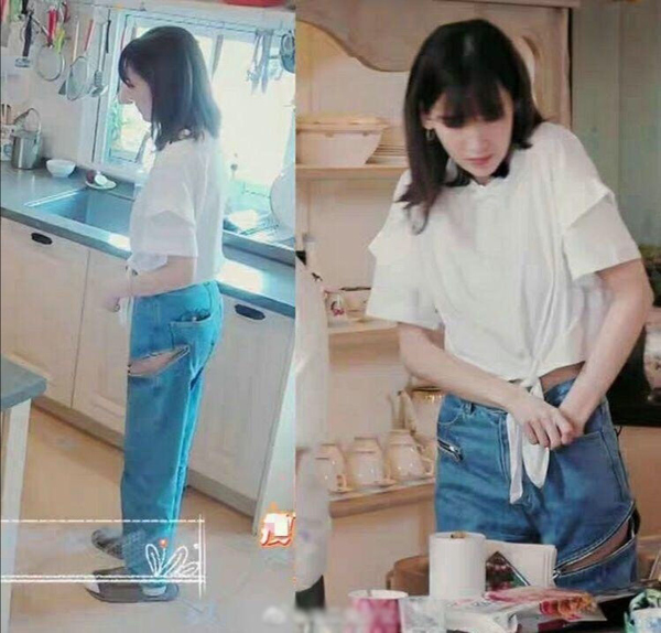 陈若仪被婆婆批评后不再穿破洞裤,改穿运动裤了,带娃开心跳舞