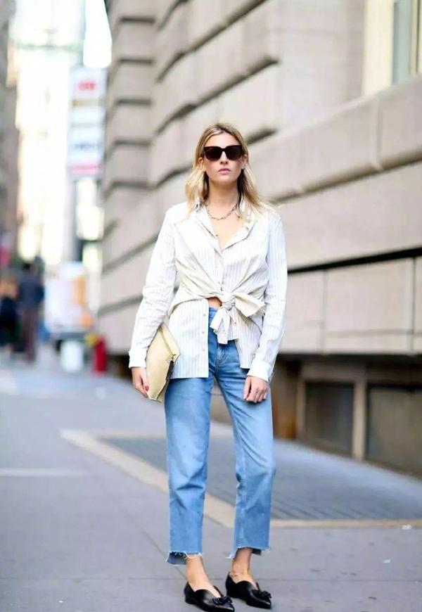 夏季想要清爽感穿什么?经典白+蓝,好看还不容易出错!
