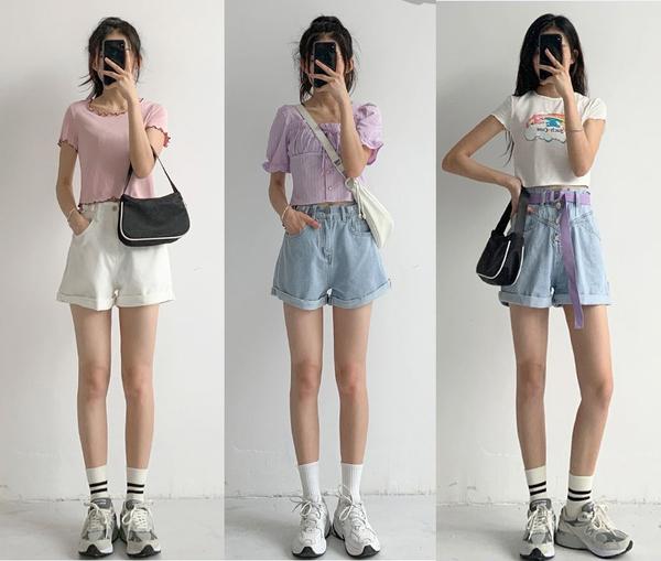 矮星人有福了!夏天短裤的百种穿法,简单舒适日常清凉让人心动