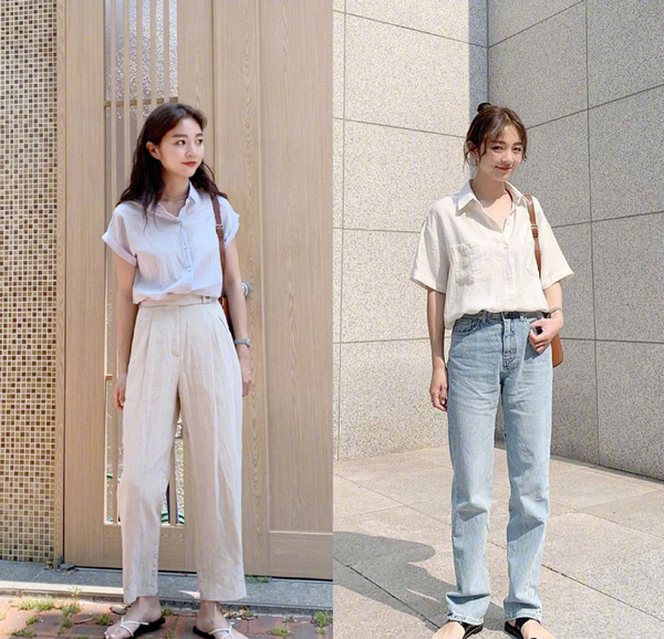 轻熟女孩的夏季职场OL风穿搭,每一套都简约时髦好搭,20套不重样