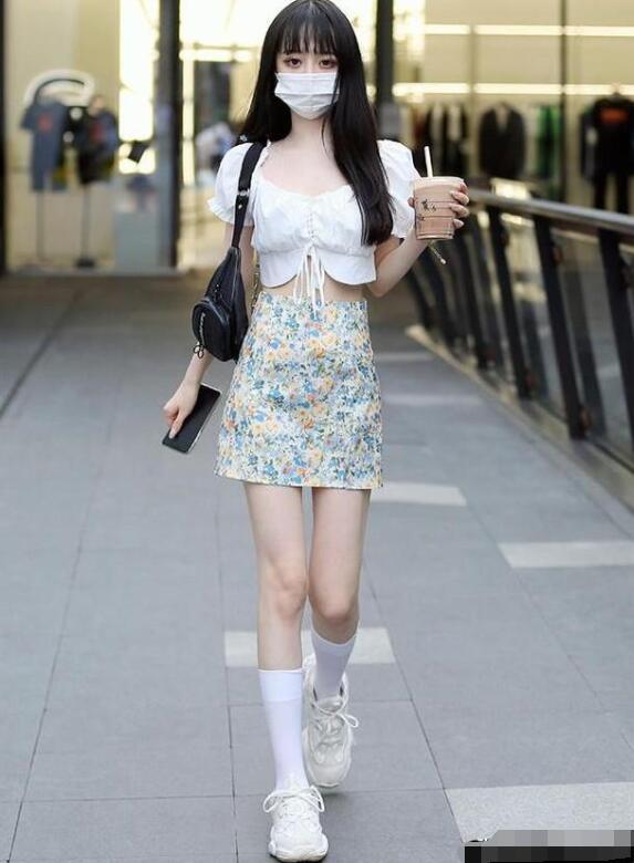 女生高帮鞋穿搭图片