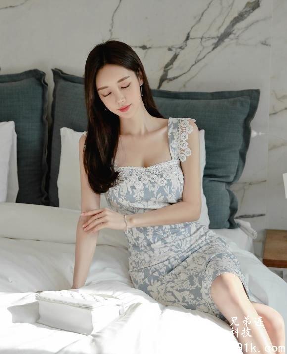 蕾丝边吊带连衣裙:粉白黛绿,丰容靓饰!_