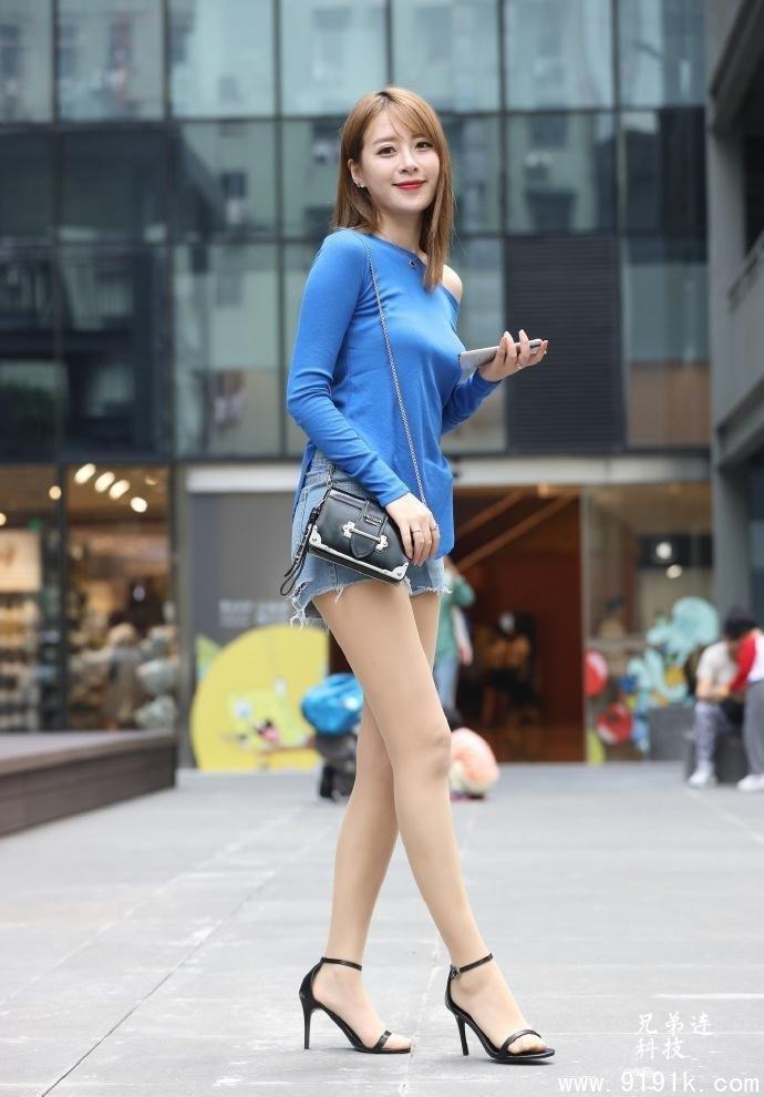 气质女生的短裤穿搭示范,休闲个性又舒适,照着穿你也能变美_