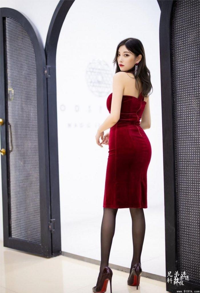 丝绒旗袍美人杨晨晨_