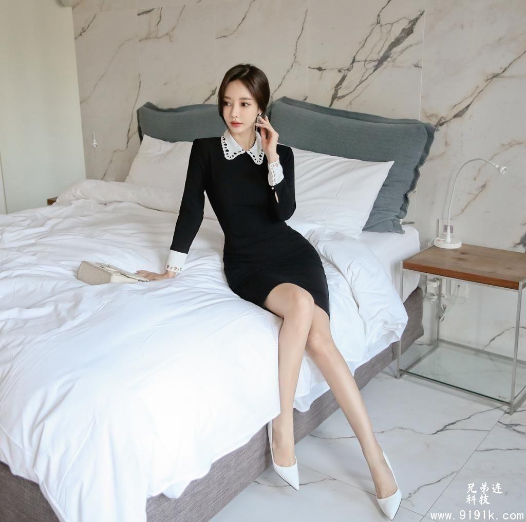 孙允珠:里昂时尚小香风纯黑名媛衣裙!_